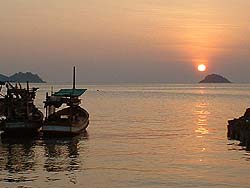Sunset at Kai Bae beach , Ko Chang